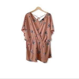 Torrid Pink Rose Pattern Kimono Style Blouse 5